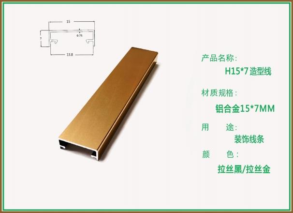 柏思特拉丝黑/拉丝金U型H15-7造型线条